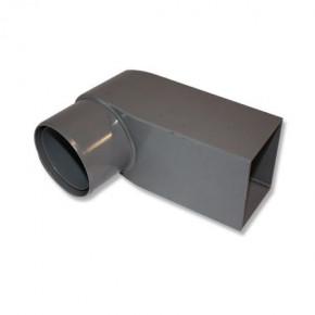 PVC stadsuitloop 60x100 mm buis 80-100 mm