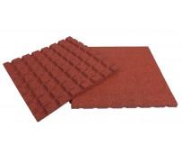Rubberen tegels rood (50x50x3 cm)